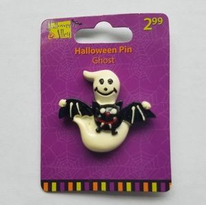 Halloween Ghost and Bat Pin
